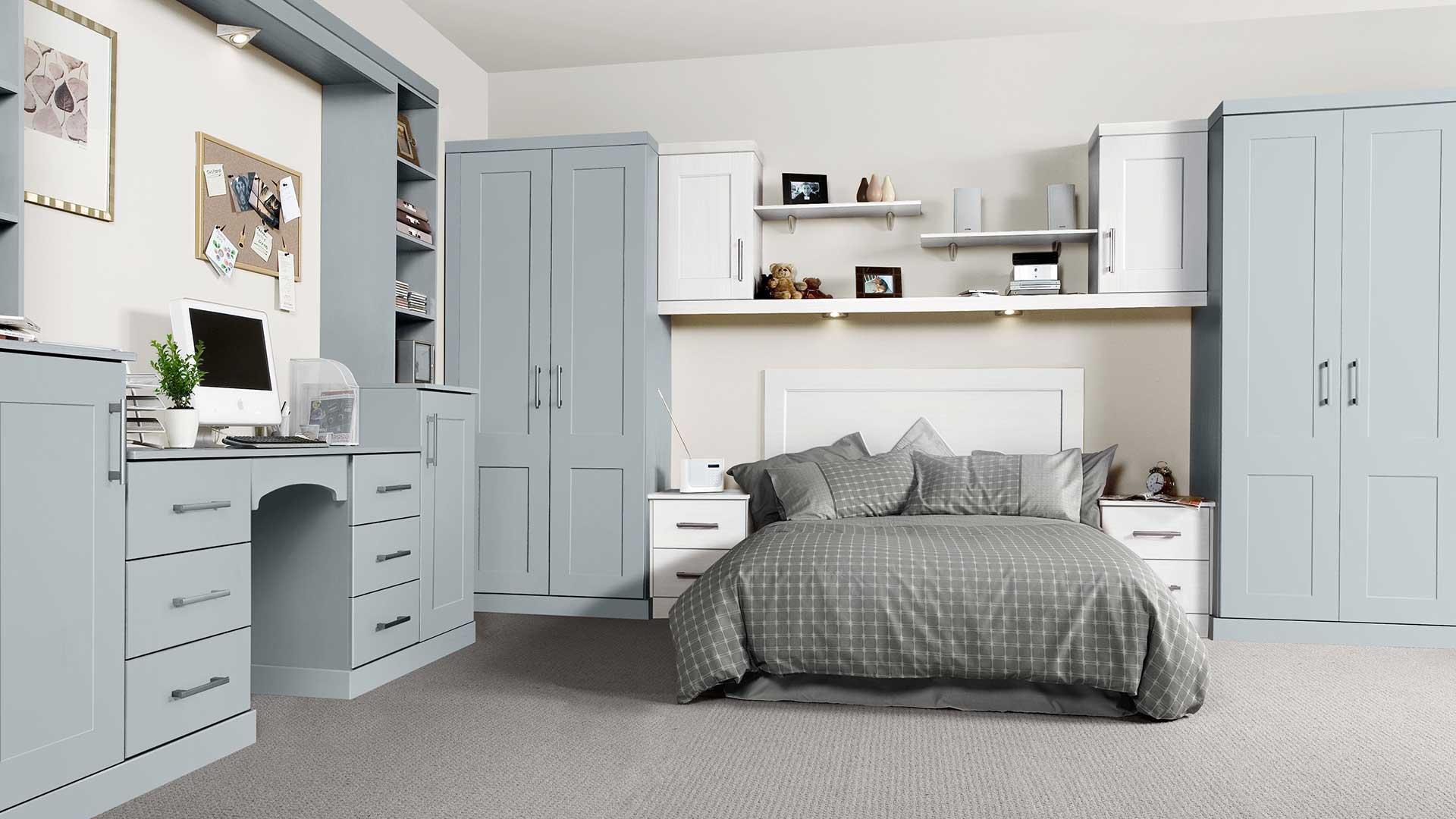 Boston Fjord White bedroom installtion