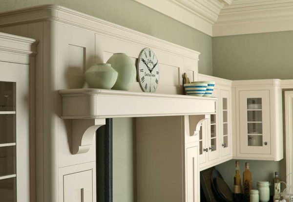 Iona Inframe Painted White Cotton Kitchen Over Mantle